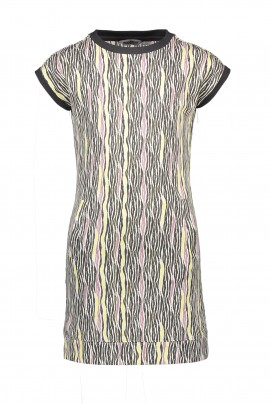 Moodstreet dress aop zebra