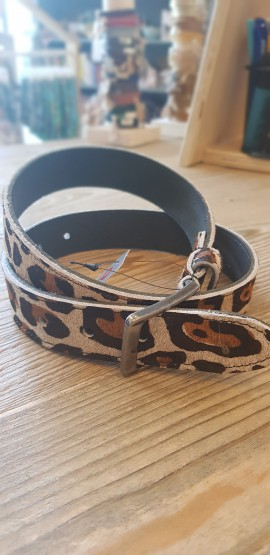 Oxxy riem breed panterprint